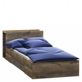 Bett 200x90 mit Regal und Schublade Karibik