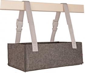 Aufbewahrung Ordo horizontal grau