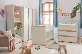 Babyzimmer komplett Spring weiß Set B