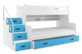 Hochbett Roxy weiß-blau für 2 Personen