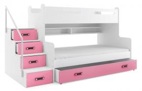 Hochbett Roxy weiß-rosa für 2 Personen