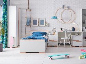 Jugendzimmer komplett Spring weiß Set A