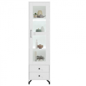 Regal 50 mit Vitrine Bent