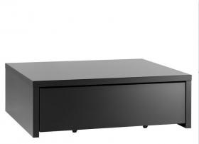 Couchtisch Black&White mit Podestelement 106x95 schwarz