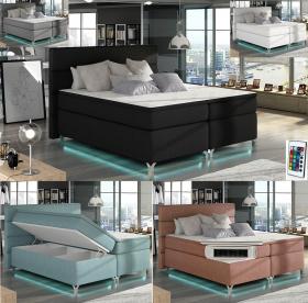 Boxspringbett Aden mit 2 Bettkasten & LED