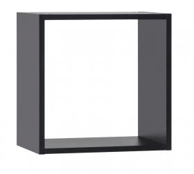 Wandregal Quadrat Black&White